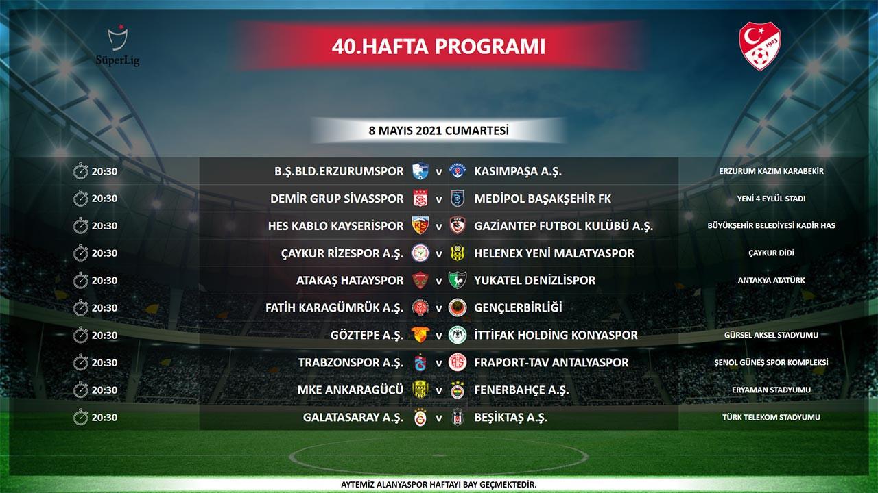 Bugün maç var mı? Bugün kimin maçı var? 7 Mayıs 2021 Cuma TFF maç programı hangi maçlar var?