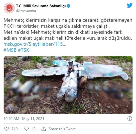 Teröristler maket uçakla saldırmaya kalkıştı