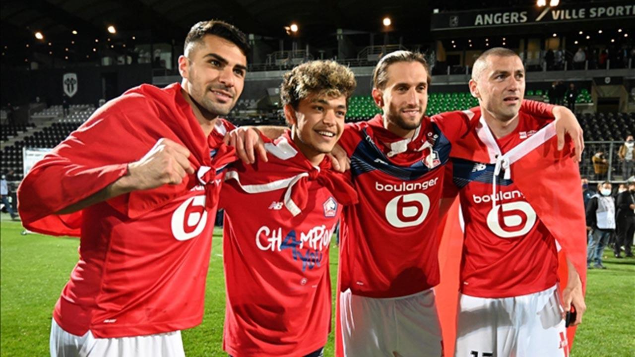 Türk futbolcular Lille'yi şampiyon yaptı