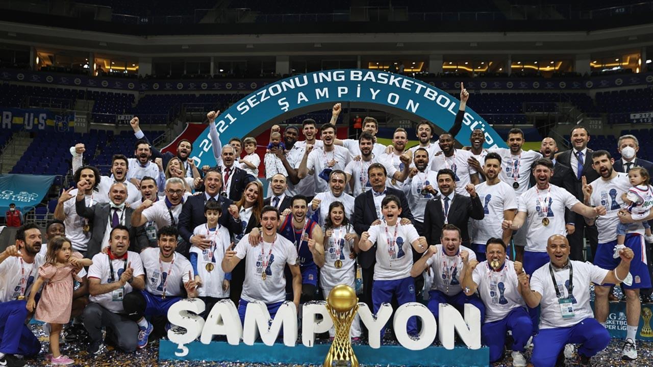 Anadolu Efes Süper Lig şampiyonu oldu