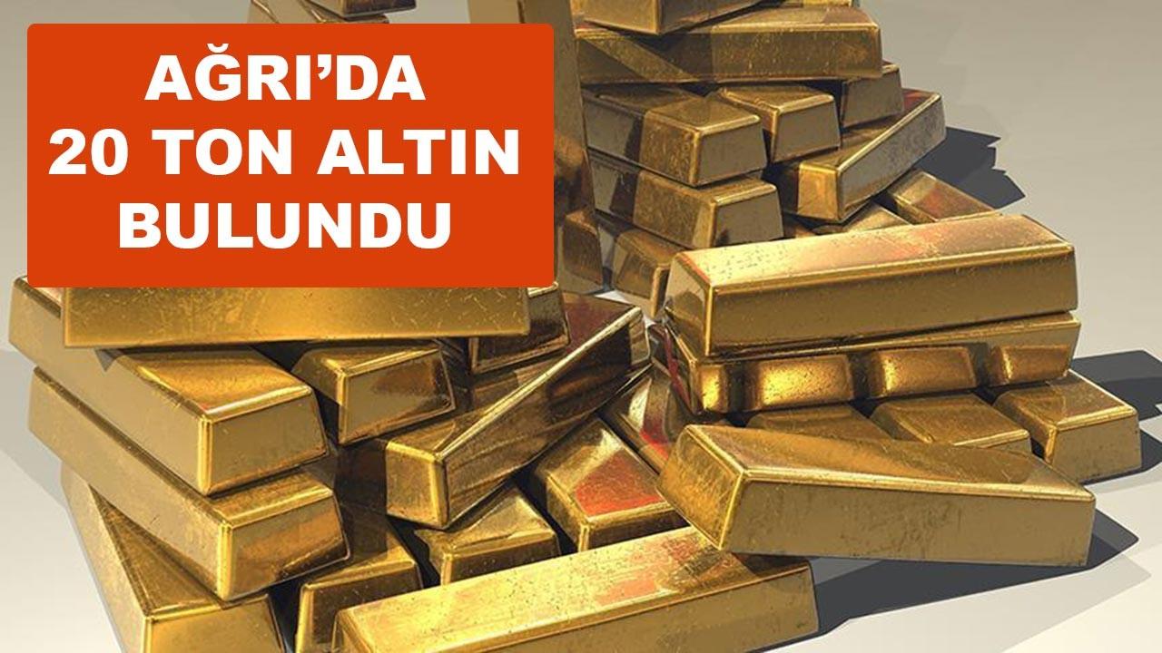 Ağrı'da 20 ton altın madeni bulundu