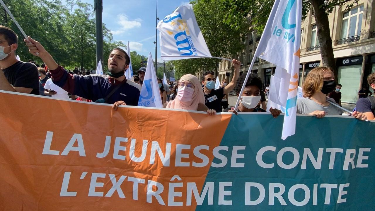 Fransız aşırı sağına karşı Özgürlük Yürüyüşü