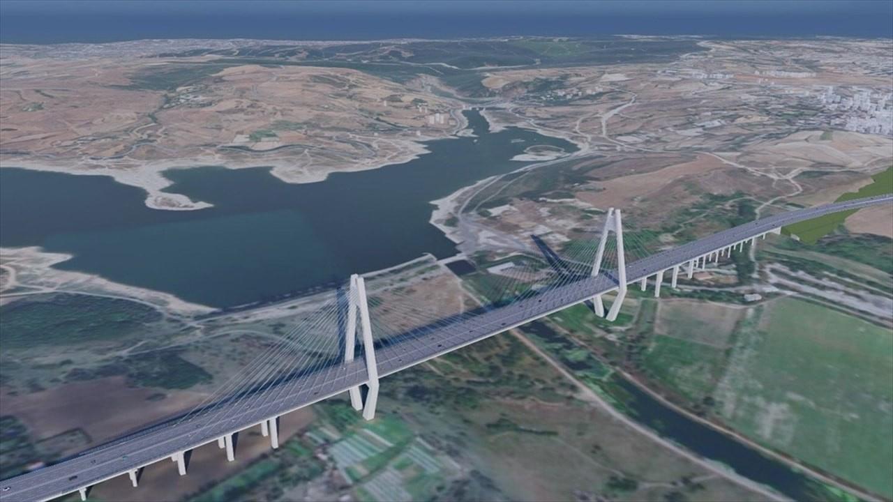 İşte Kanal İstanbul'un ilk köprüsü