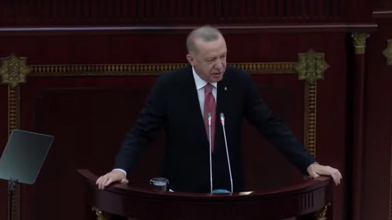 Erdoğan, Azeri Milli Meclisi'nde konuştu
