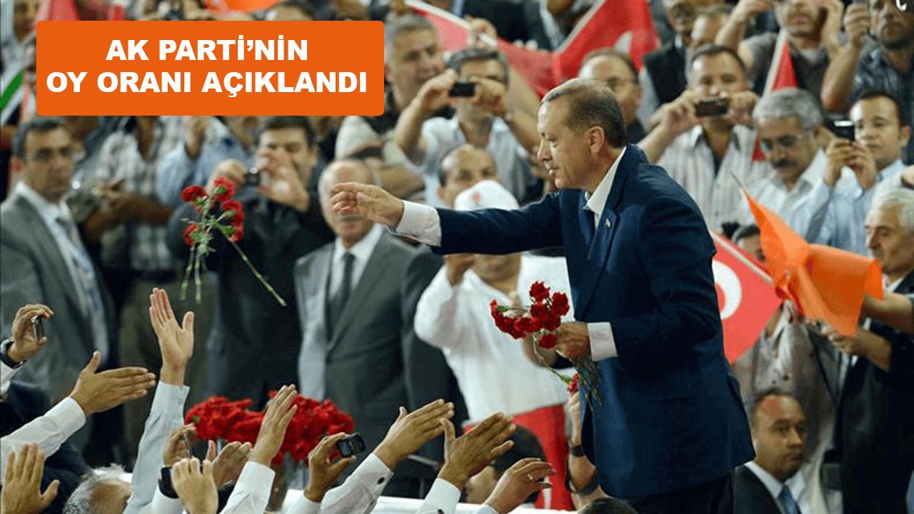 AK Parti'nin oy oranı açıklandı