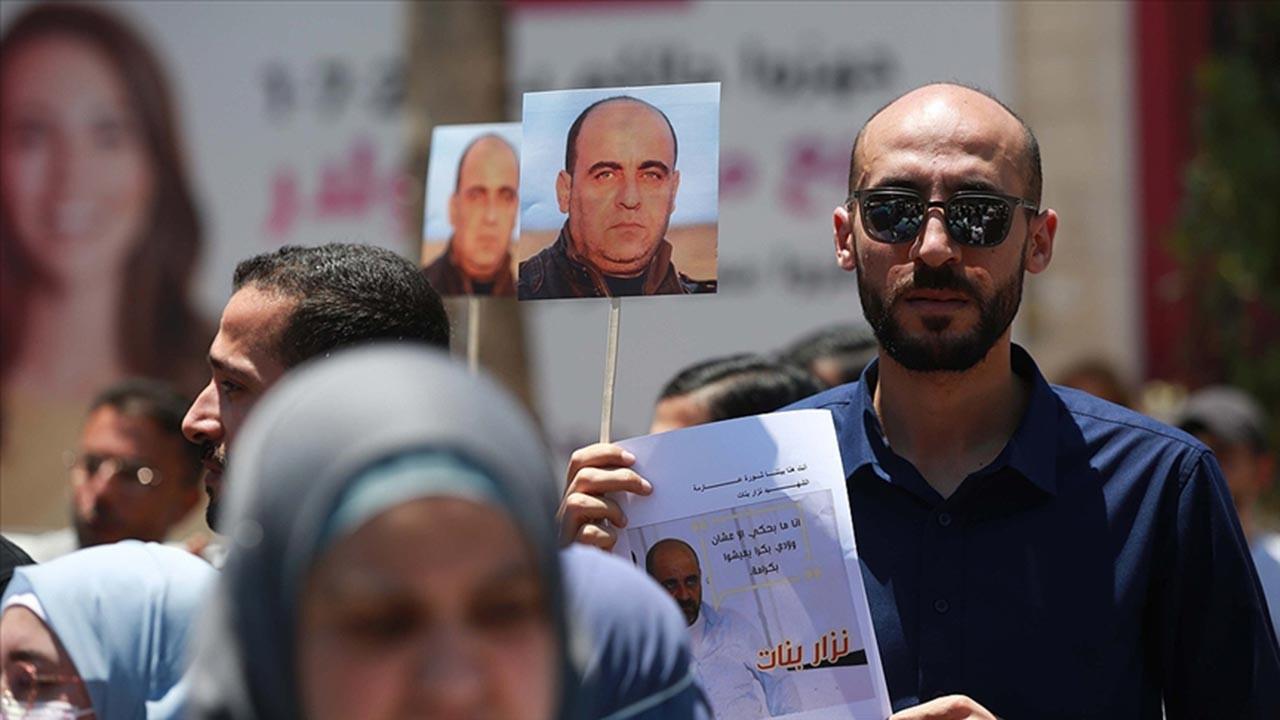 Nizar Benat'ın şüpheli ölümü protesto edildi