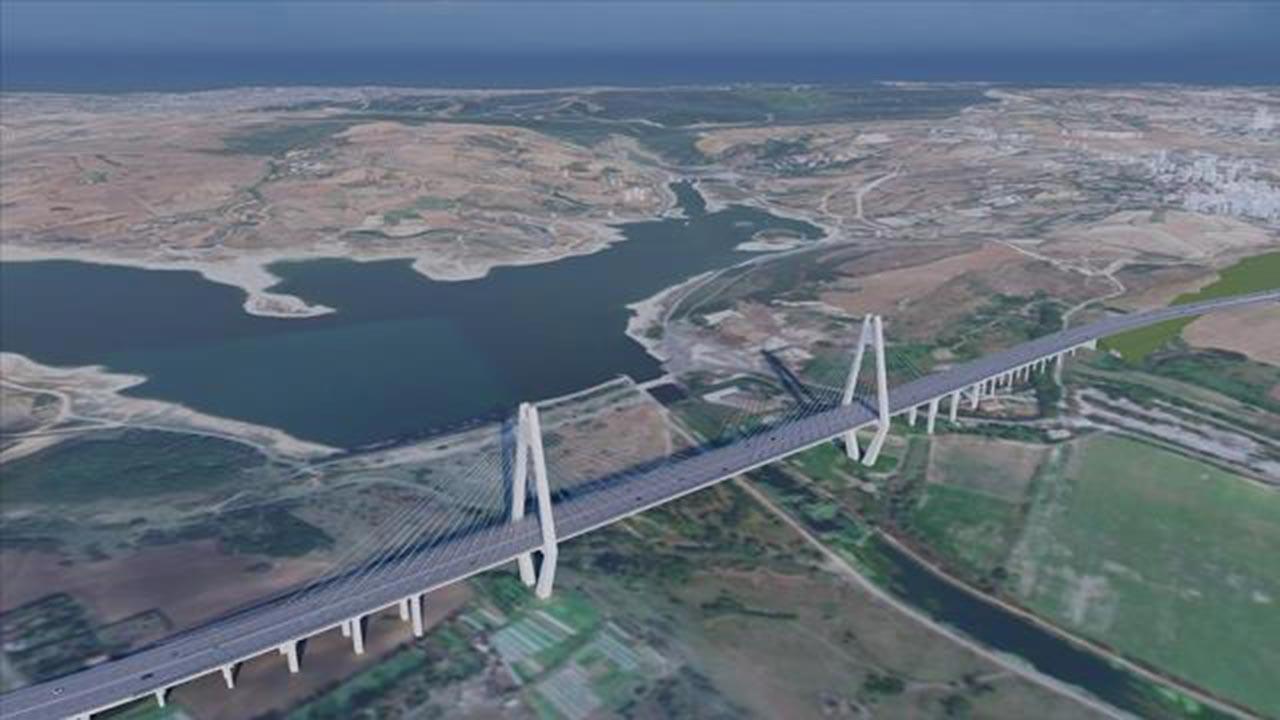 Kanal İstanbul güzergahında ilk köprü