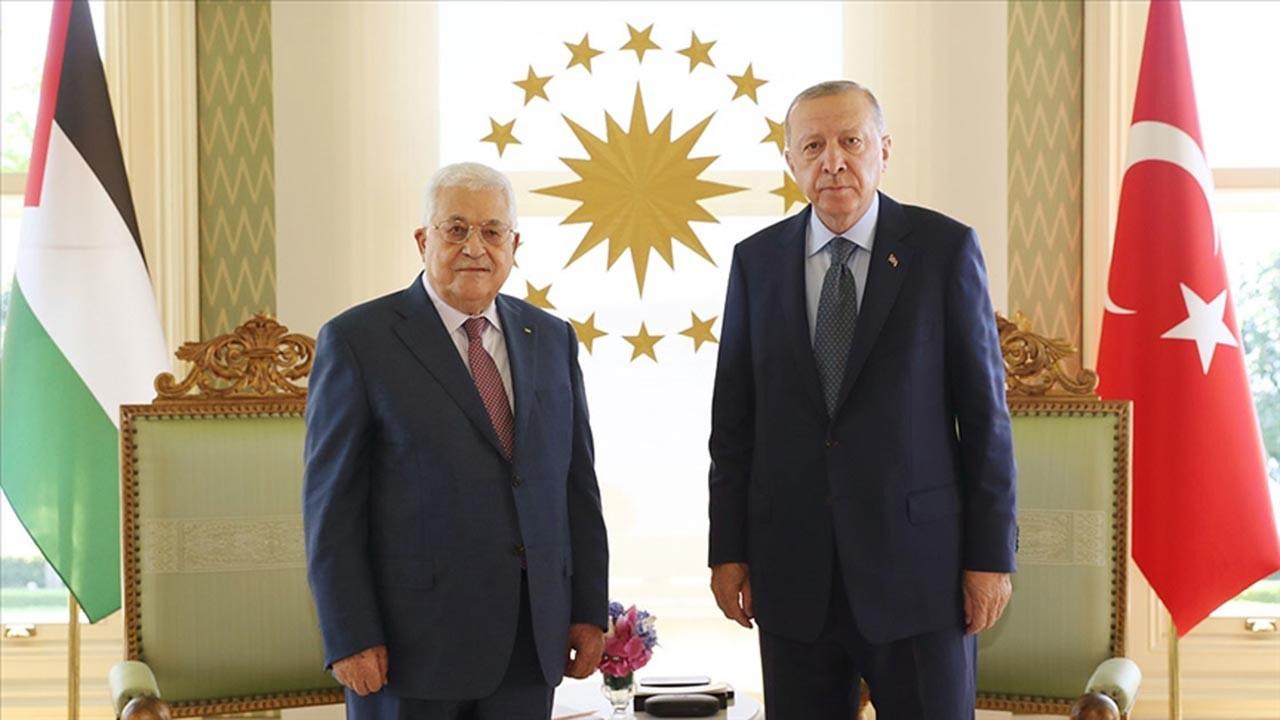 Erdoğan ile Abbas İstanbul'da bir araya geldi