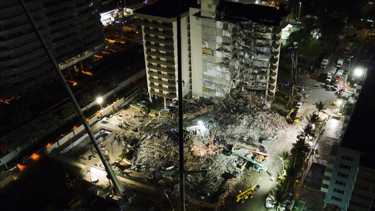ABD'de çöken binada can kaybı sayısı 94'e yükseldi