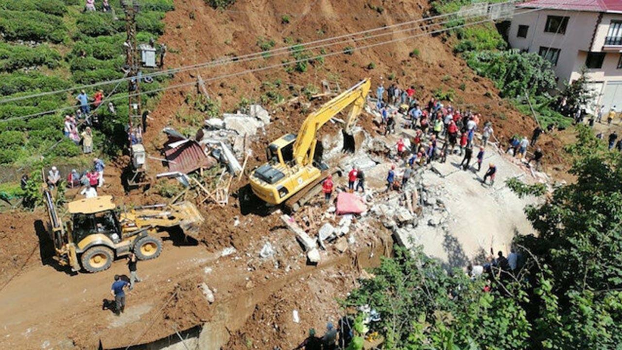 Rize'deki felakette ölü sayısı ve kayıplar arttı