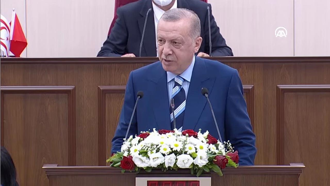 Cumhurbaşkanı Erdoğan Kıbrıs Meclisine seslendi