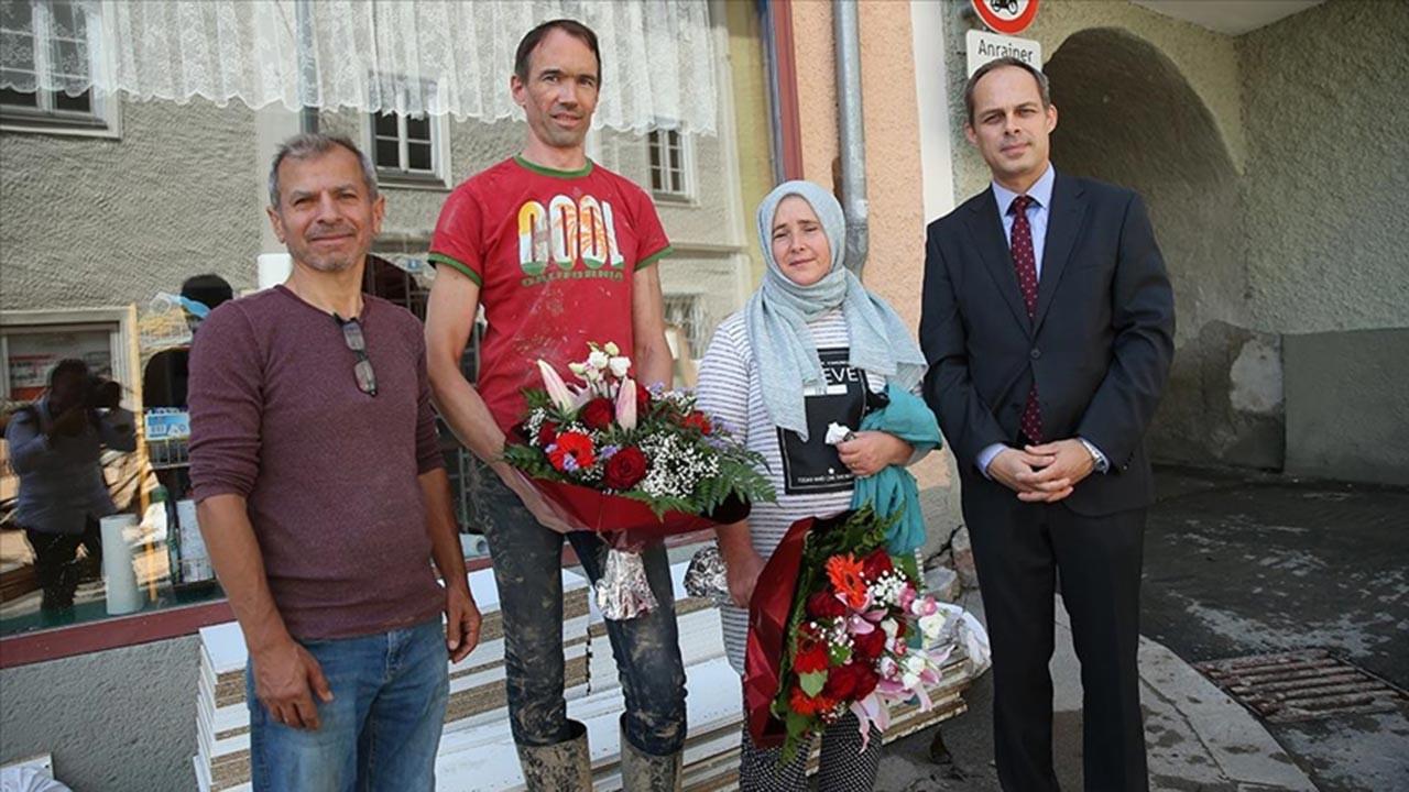 Avusturya'da selden kurtarılan çift konuştu