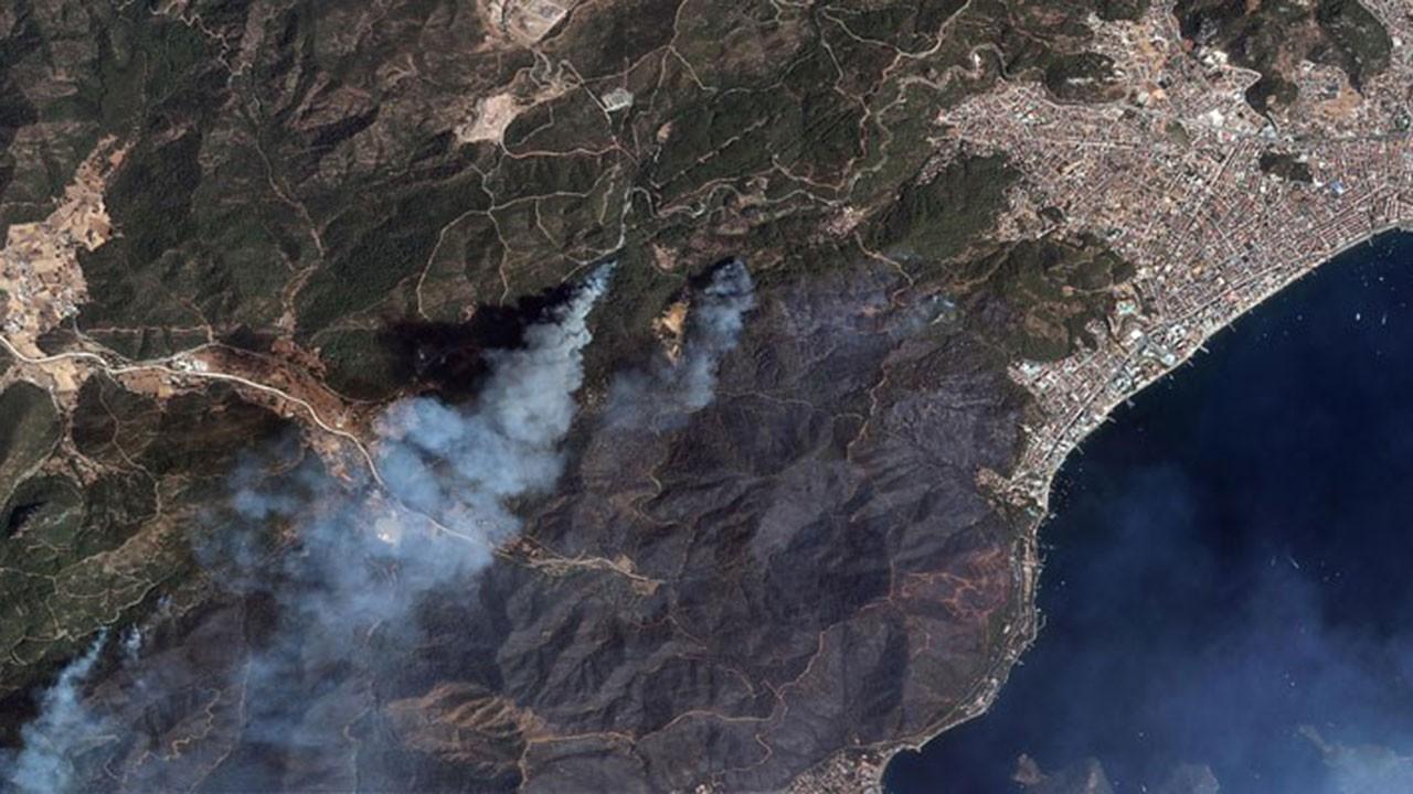 Yangınların tahribatı uydu fotoğraflarında