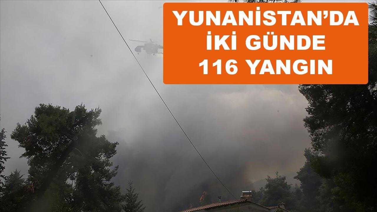 Yunanistan'da iki günde 116 yangın çıktı