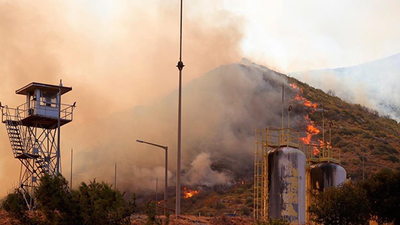 Yangın termik santrale iyice ulaştı