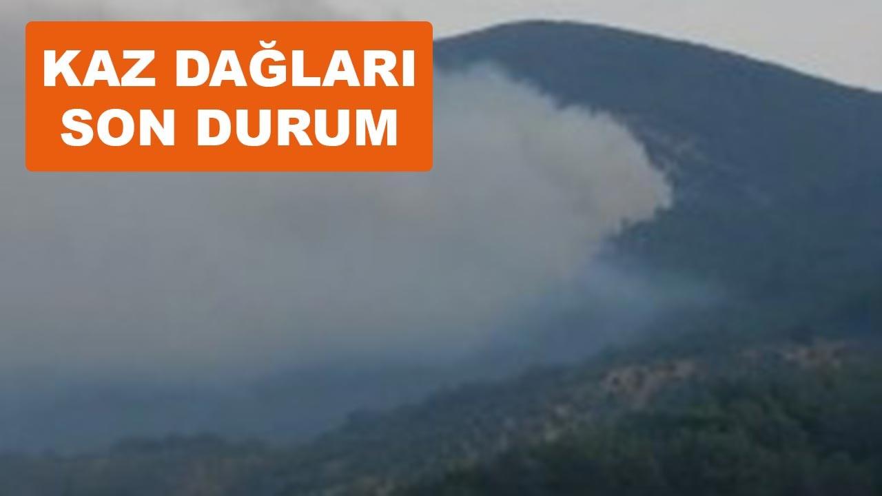 Kaz Dağları'ndaki yangında son durum