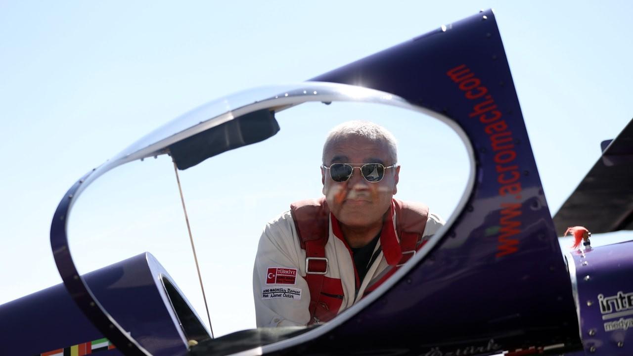 Eskişehir akrobat pilotların gösterisine sahne old