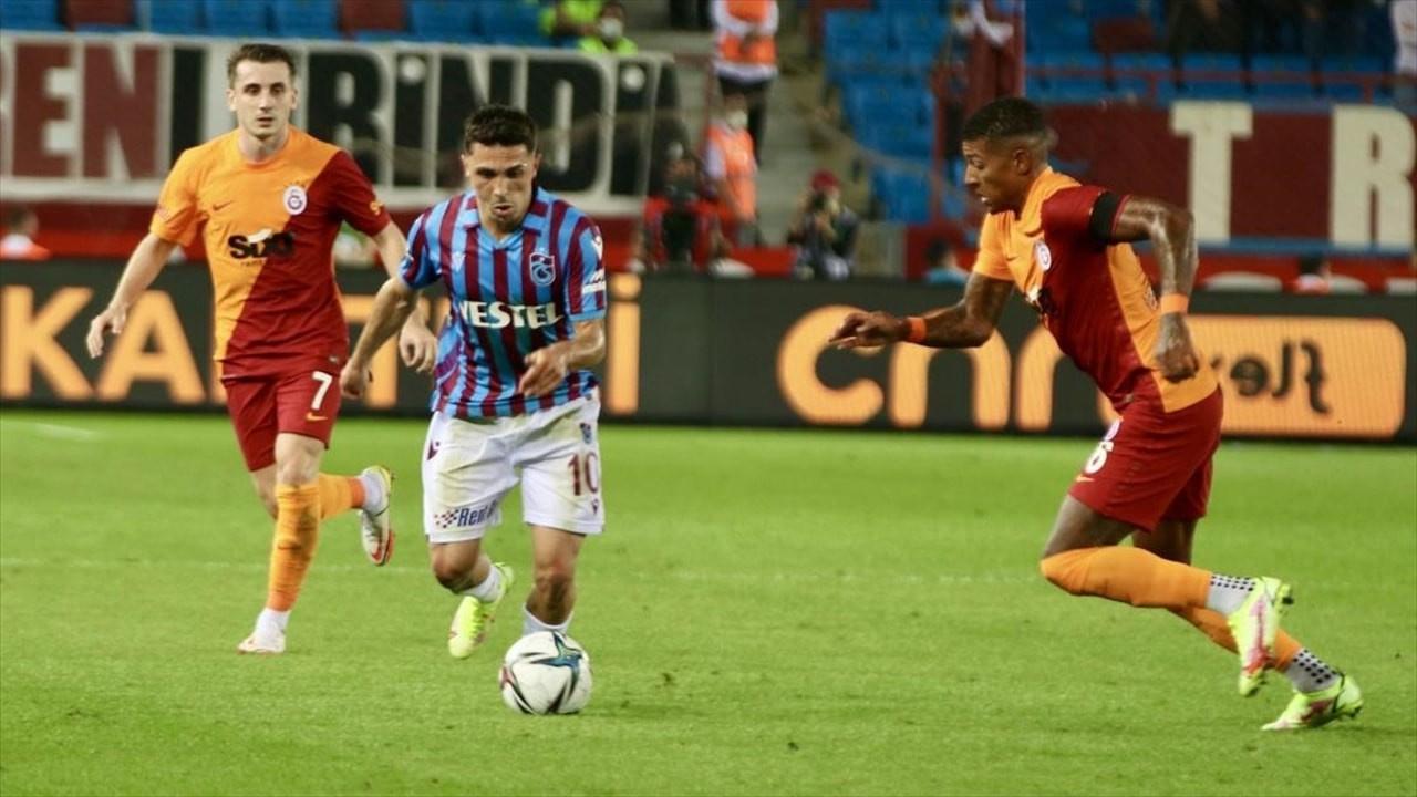 Galatasaray ve Trabzon'dan ilk puan kaybı