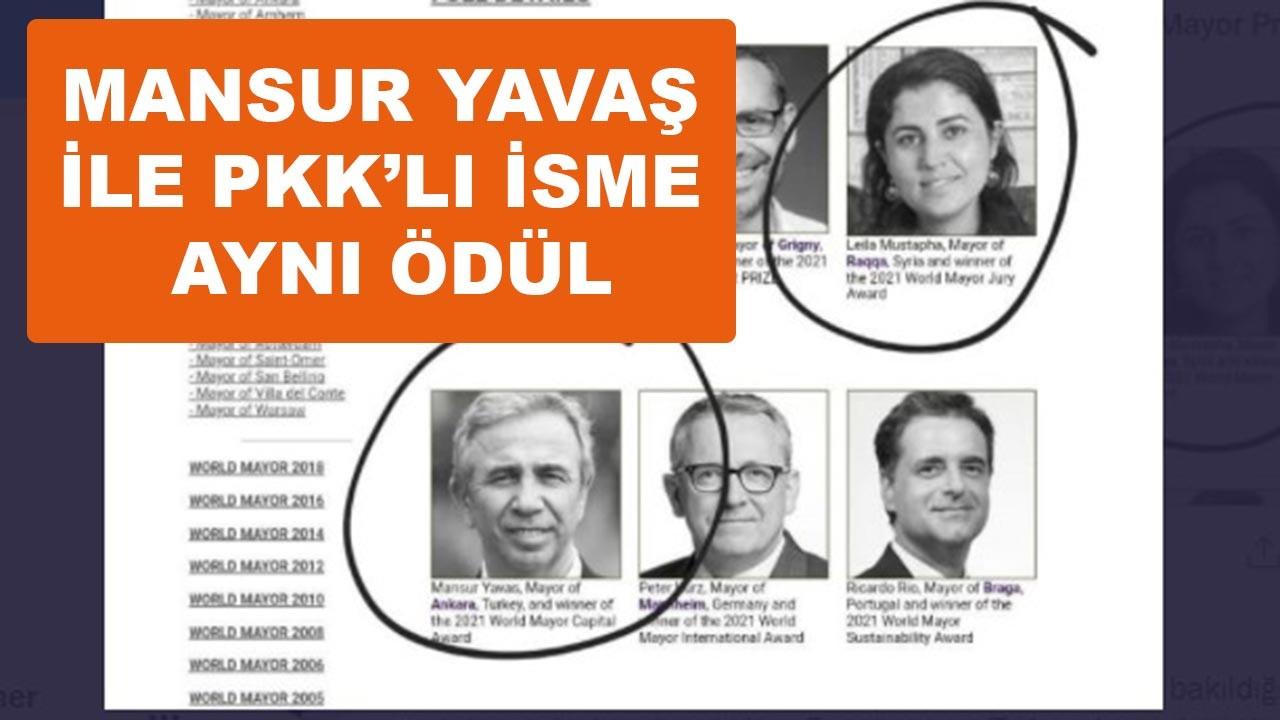 Mansur Yavaş ile PKK'lı isme aynı ödül verilmiş