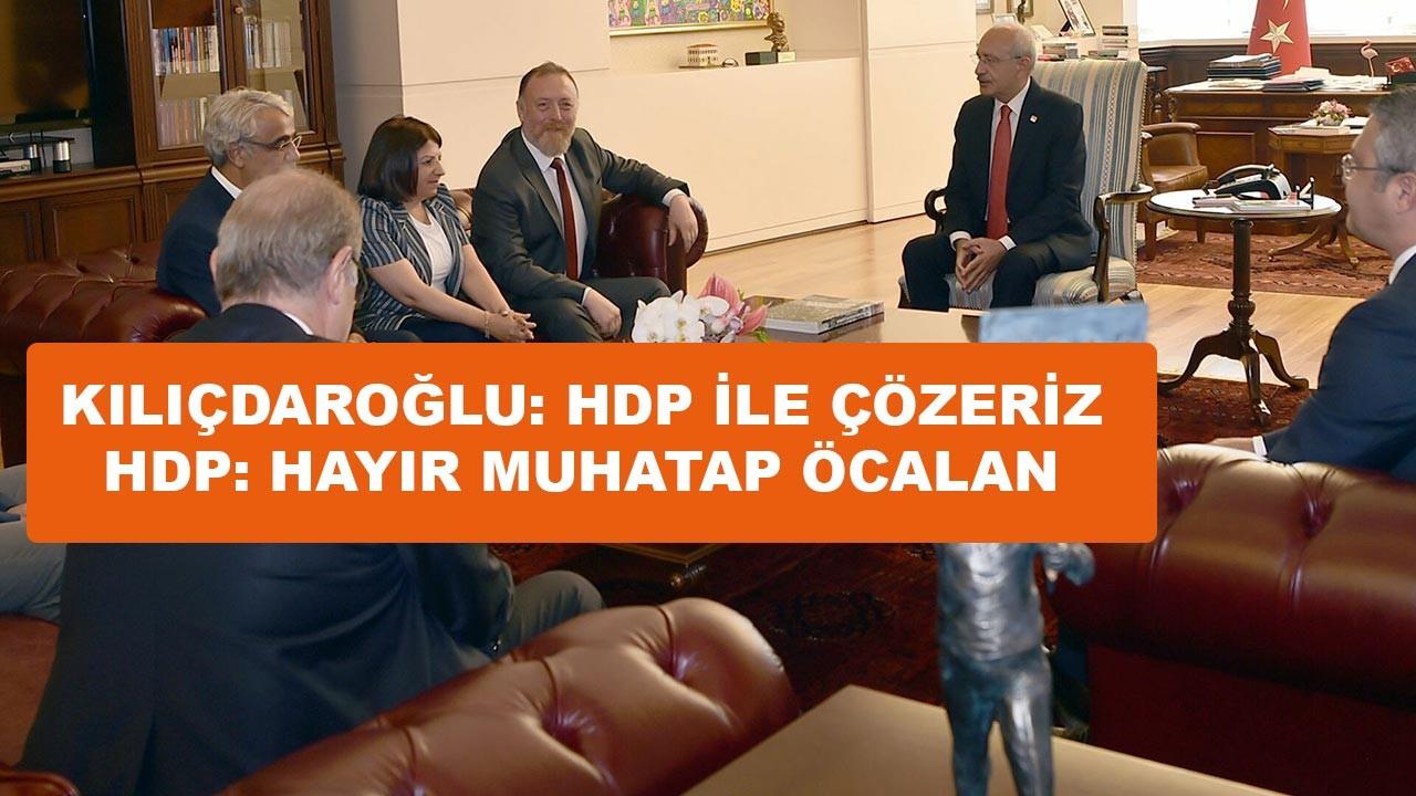 HDP'den Kılıçdaroğlu'na soğuk duş