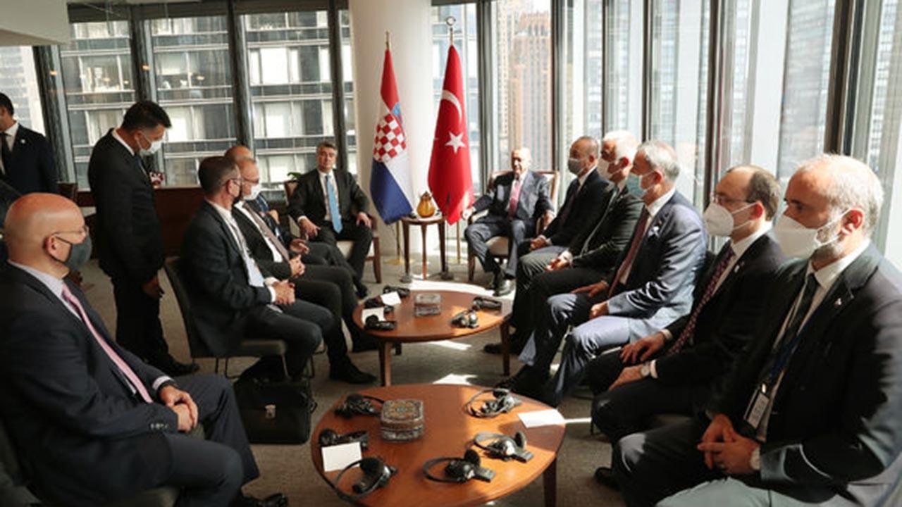 Erdoğan, ABD'de birçok liderle bir araya geldi