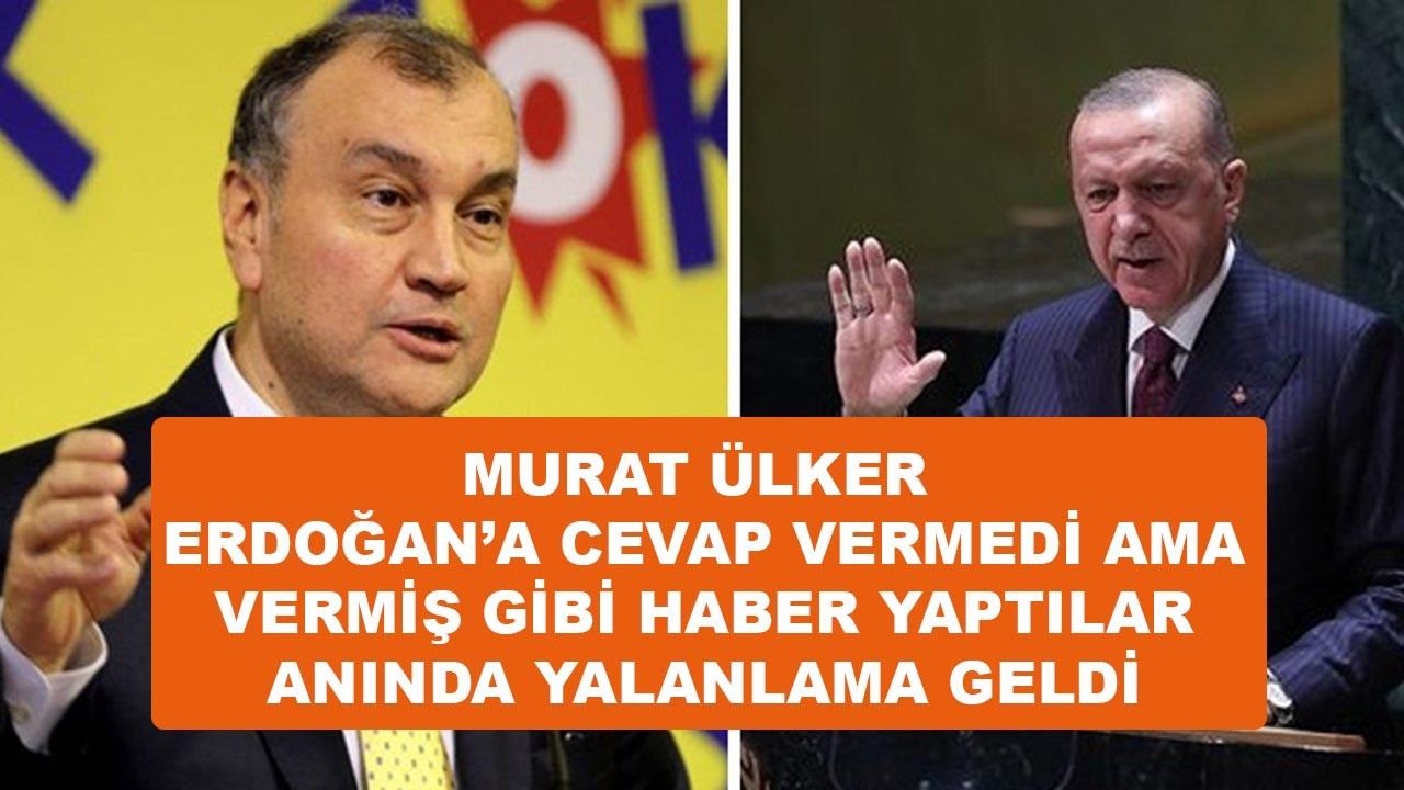 Murat Ülker, Erdoğan'a cevap vermiş gibi yaptılar