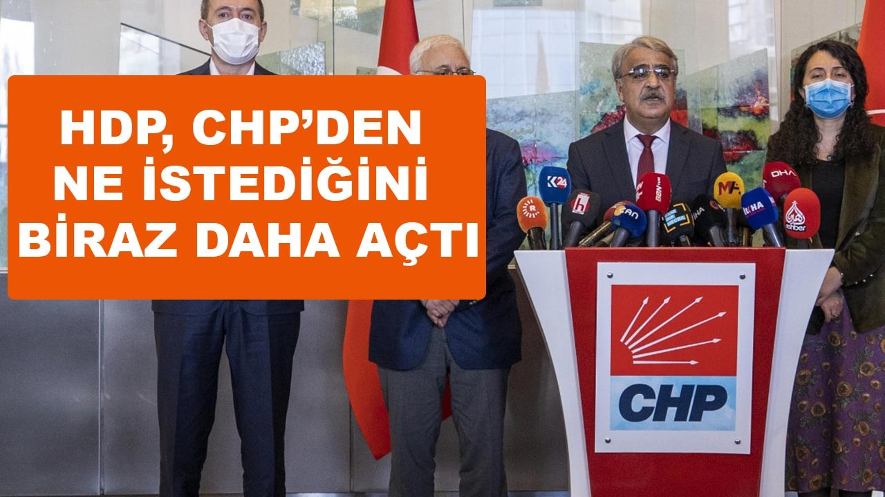 HDP, CHP'den ne istediğini biraz daha açtı