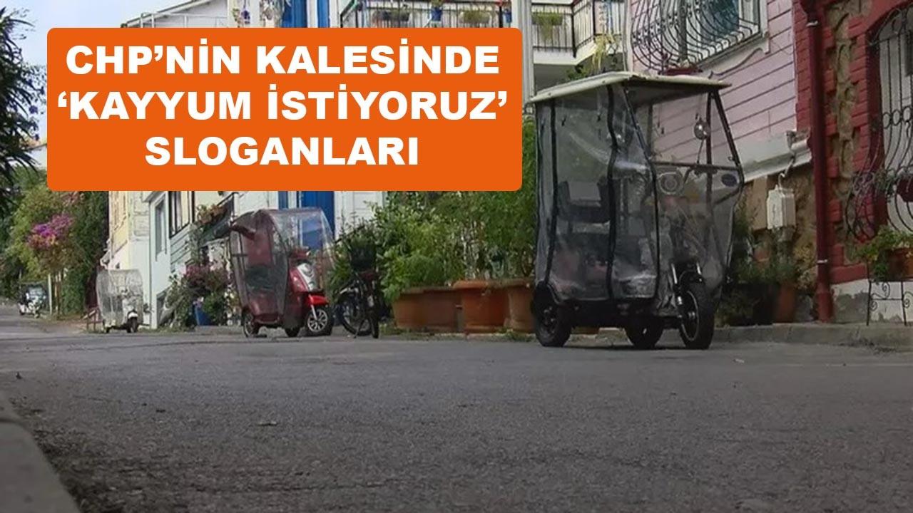 CHP'nin kalesinde 'kayyum istiyoruz' sloganları