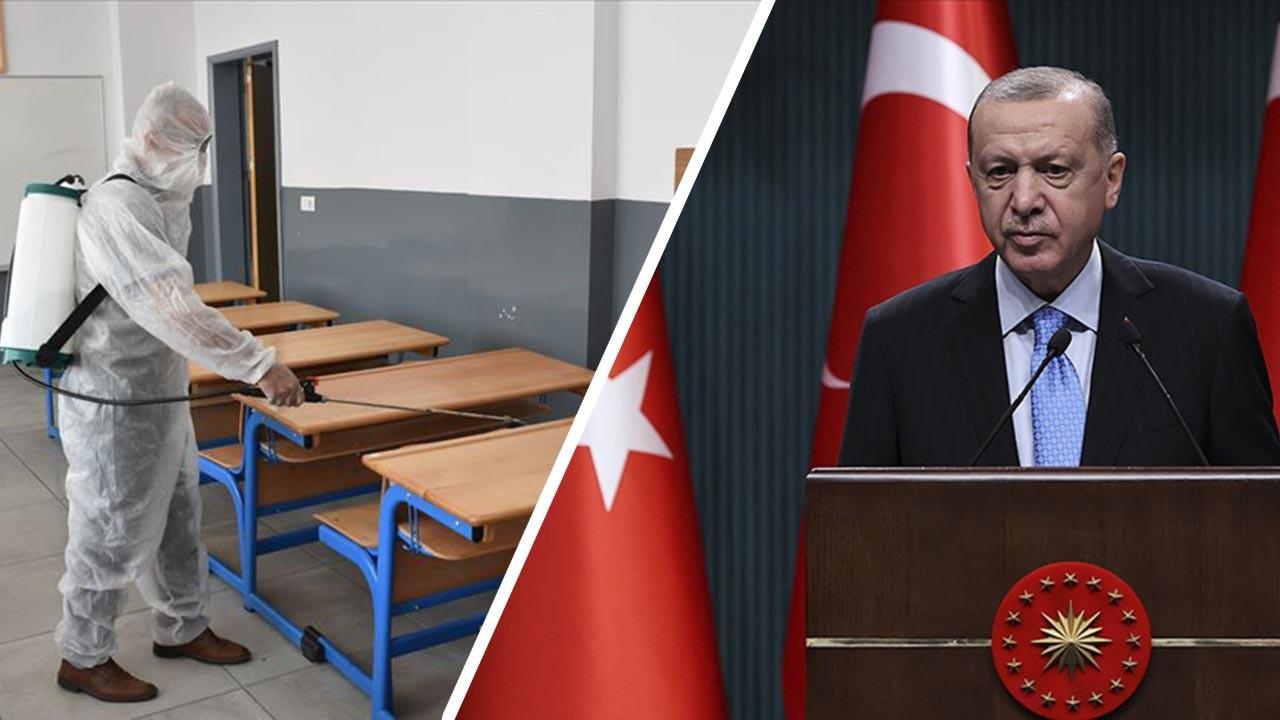Okullar kapanacak mı, son açıklama Erdoğan'dan