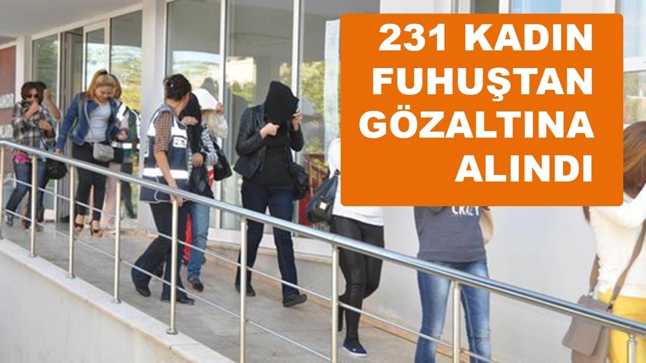 Trabzon'da 231 kadın fuhuştan gözaltına alındı