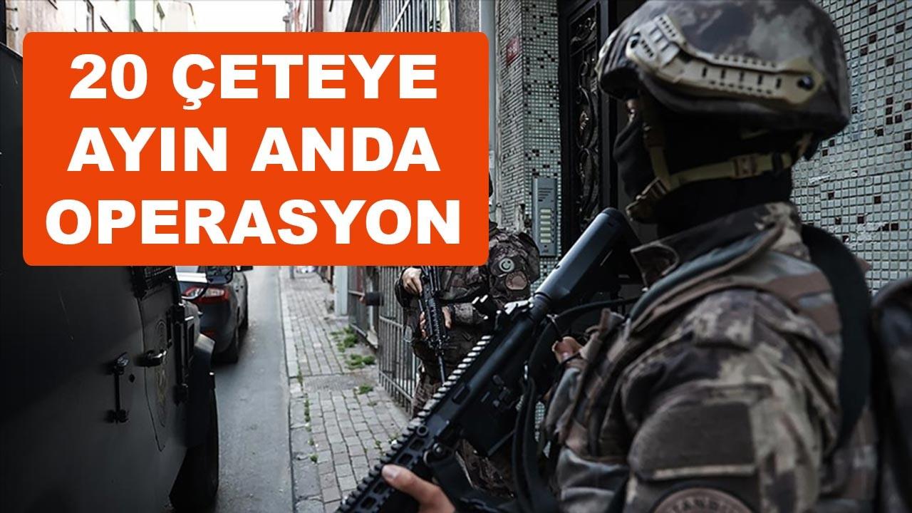 İçişleri Bakanlığından onlarca çeteye operasyon