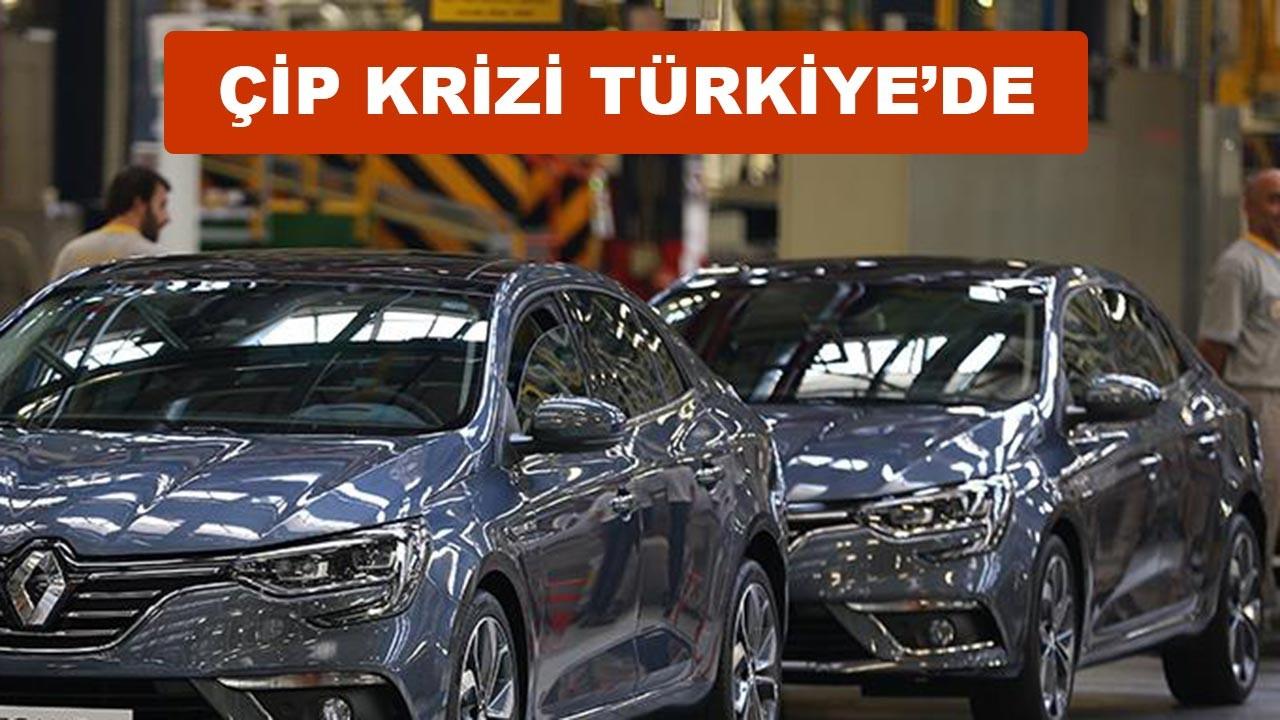 Otomotivdeki çip krizi Türkiye'ye de sıçradı