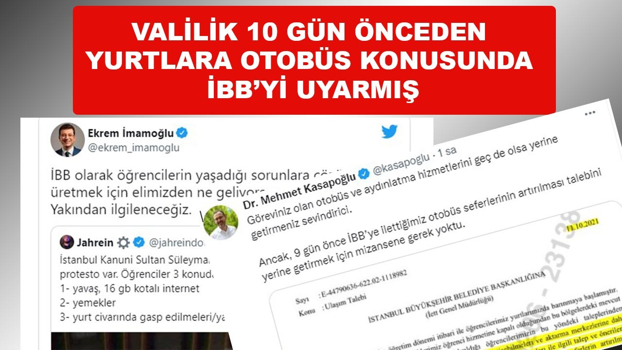 İstanbul Valiliği 10 gün önce İBB'yi uyarmış
