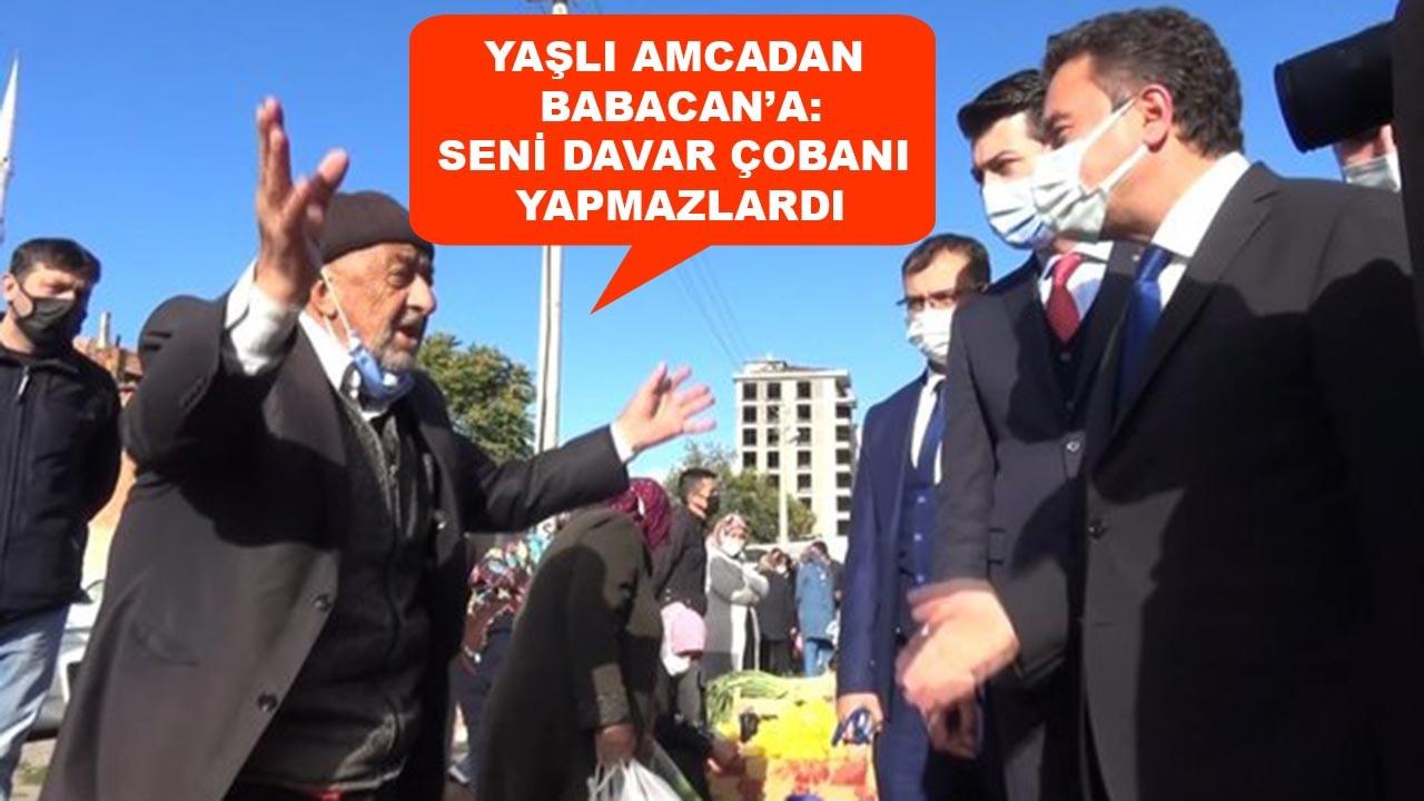Esnaf ziyaretinde Ali Babacan'a tepki