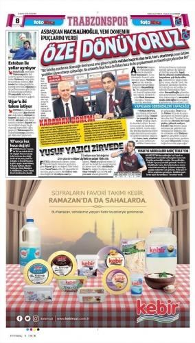 Spor gazete manşetleri bugün - 31 Mayıs
