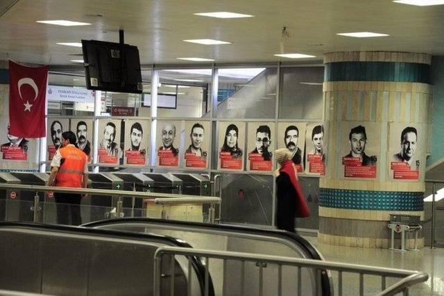 15 Temmuz şehitleri Yenikapı Metro İstasyonu'nda