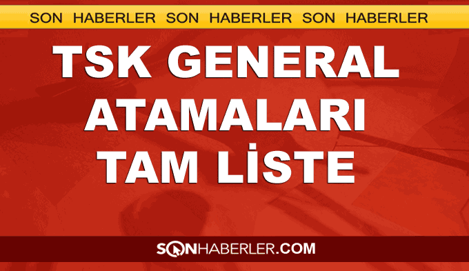 TSK general atama listesi