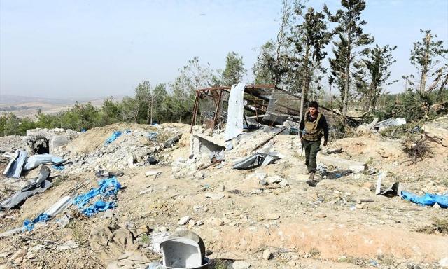 Afrin'deki terörist kampı böyle görüntülendi