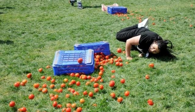 Antalya Kadınlar arası domates yarışması