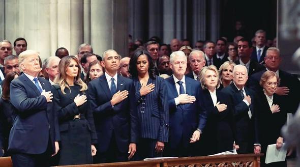 ABD, baba Bush'a veda etti