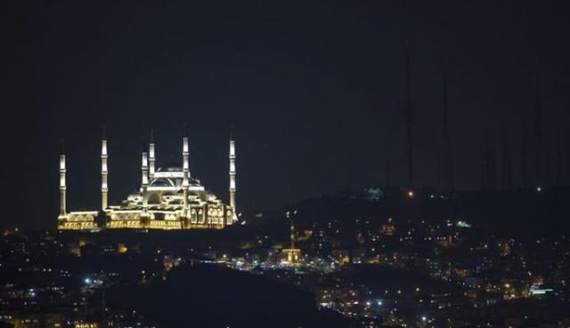 Çamlıca Camii'nden muhteşem kareler