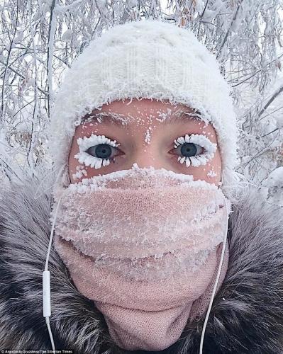 Rusya#039;nın Oymyakon kentinde termometreler -62 dereceyi gösterdi.
