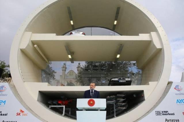 Avrasya Tüneli'nden ilk geçiş Erdoğan tarafından yapıldı