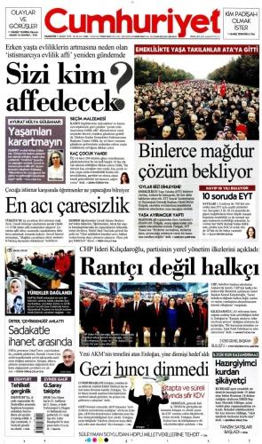 İşte EYT toplantısını manşetine taşıyan gazeteler