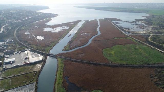 Güzergahı bugün açıklanan Kanal İstanbul#039;un yapılacak hat havadan görüntülendi