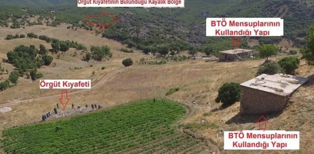 Lice'de PKK sığınakları