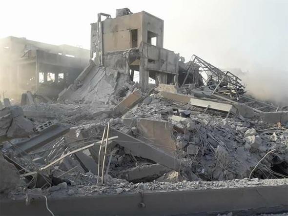Suriye'de vurulan hedefler yerle bir