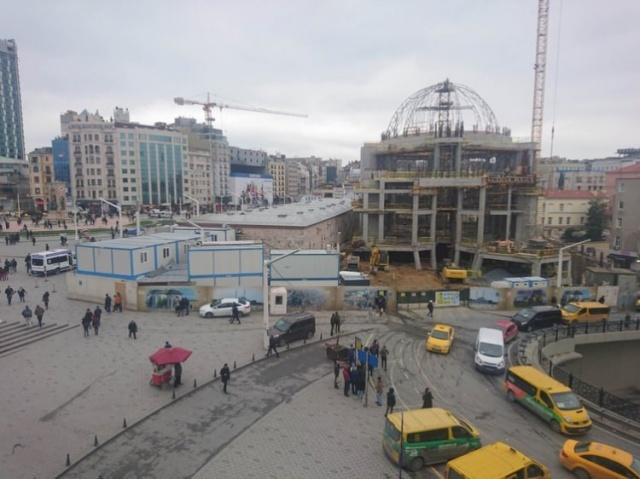 Taksim Camii#039;nin ana kubbesinin yapımına başlandı