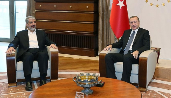 Erdoğan, Halid Meşal'i kabul etti