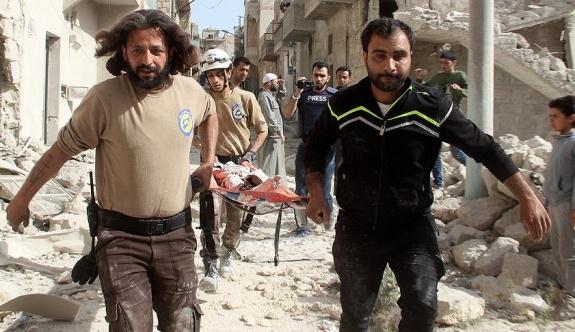 Rus jetleri bugün de Halep'te sivilleri vurdu